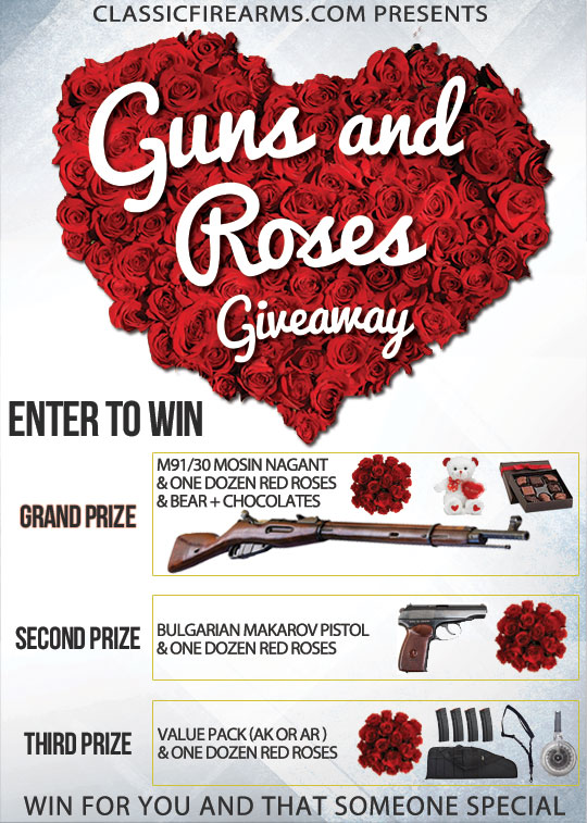 Valentines Day Guns and Roses Giveaway