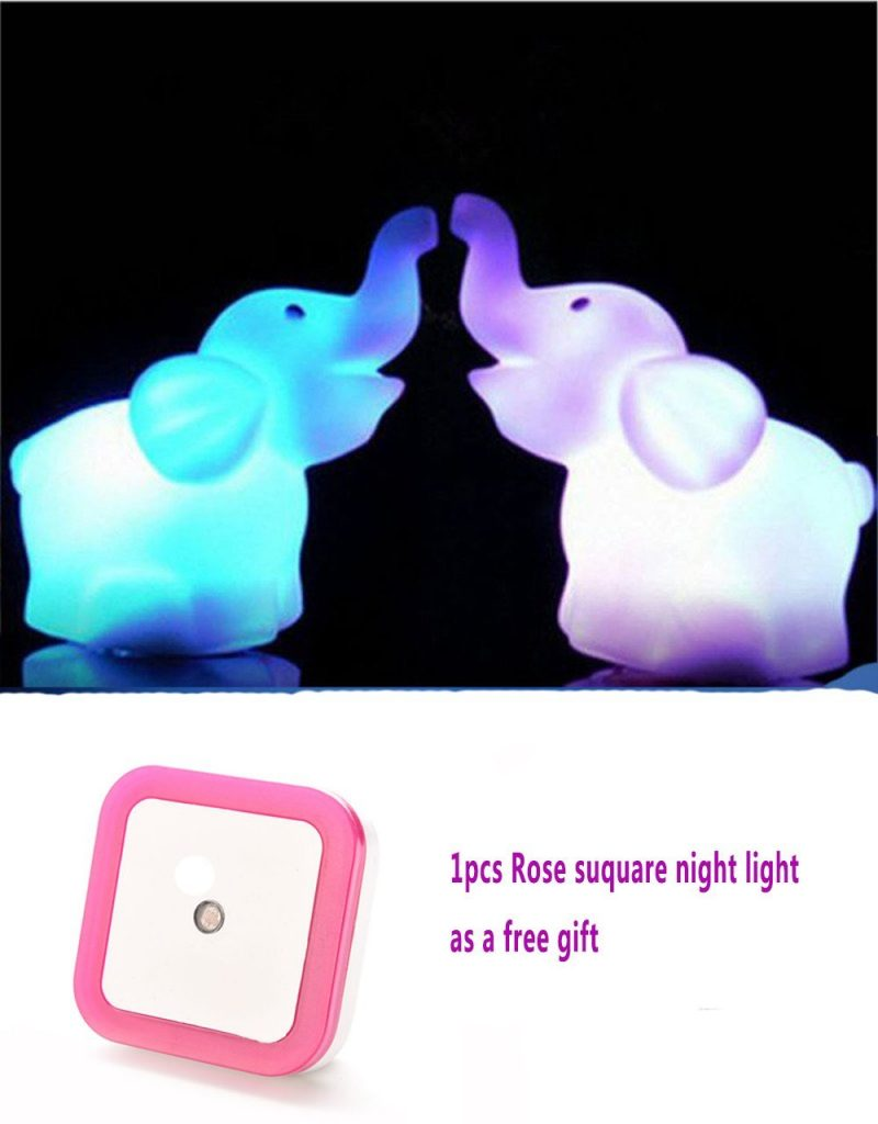 1 Pair (2pcs) Elephant LED Night Light -$2.49