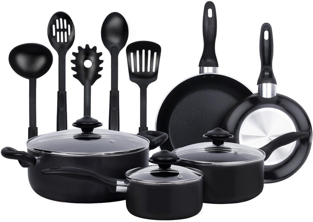 13 Pieces Heavy Duty Cookware Set -$36.99
