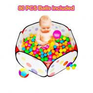 Foldable Kids Popup with 80 Pit Balls