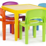 Tot Tutors Kids Plastic Table and 4 Chairs Set